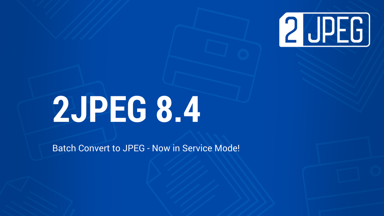Batch convert documents to JPEG with 2JPEG 8.4